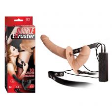 Double Thruster Çift Taraflı Belden Bağlamalı Protez Penis - Ten