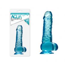 Quartz Aqua Şeffaf Jel Dildo
